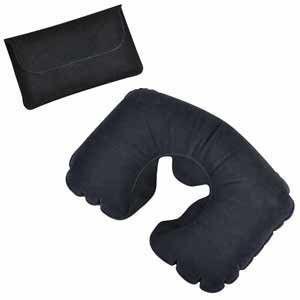 Подушка надувная дорожная в чехле