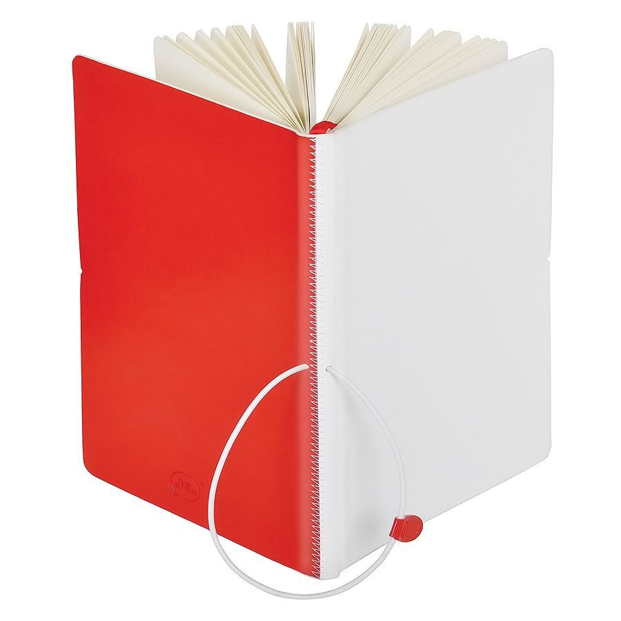 Бизнес-блокнот Franky А5 красный с белым