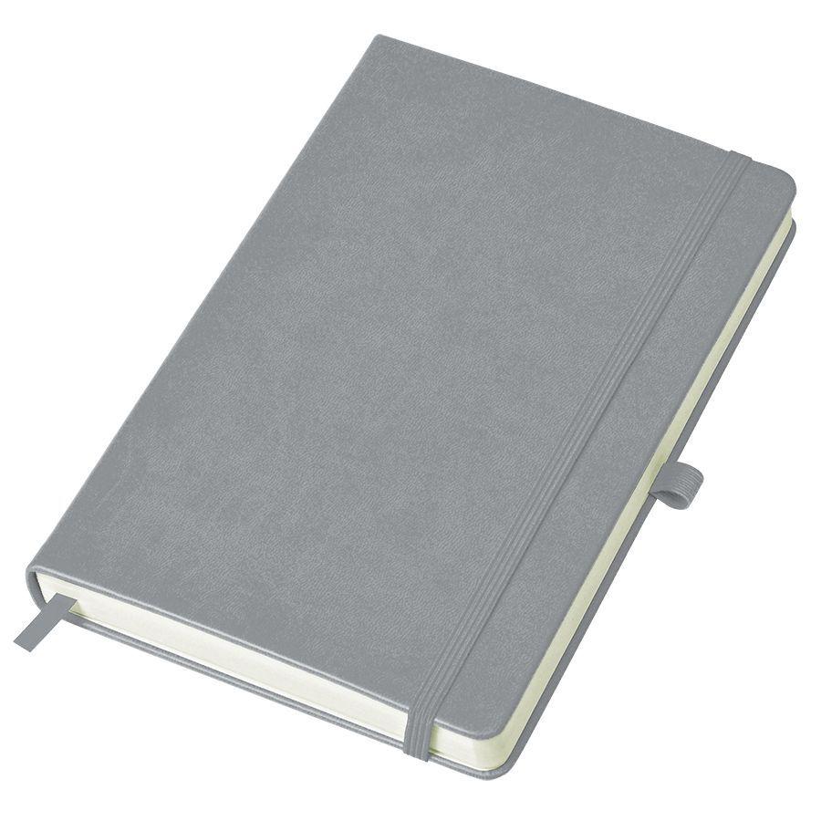 Серый бизнес-блокнот Justy А5